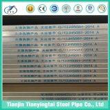 Galvanizado pre tubos cuadrados de gases de efecto