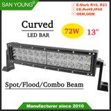 13pouces lumière LED incurvé 72W Bar barre LED feux de conduite hors route