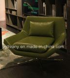 Итальянская самомоднейшая кожаный софа отдыха (D-70)