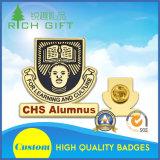 Förderndes Gold/antike silberne Überzug-Abzeichen mit kundenspezifischem Firmenzeichen