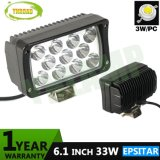 33W 6.1inch Offroad Epistar LED Lámpara automática de luz LED de trabajo
