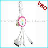 Micr3ofono promocional 4 en 1 cable multi de la transferencia de datos de la función del cargador del USB (CSI-668)