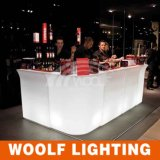 China Factory LED Bar Cocktail Furniture LED Bar Counter para exterior / jardim