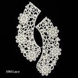 方法デザイン白い象牙は花嫁の服D002のために制作するレースカラーを刺繍した