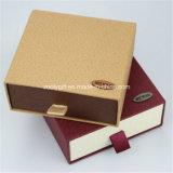Caja de cartón de papel de cartón de encargo / caja de regalo de desplazamiento / carpeta y cinturón de embalaje cajas de regalo