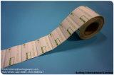 Escritura de la etiqueta del papel de arte
