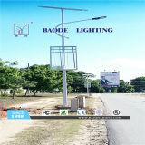 luz de rua solar da bateria de lítio do diodo emissor de luz 65W de 9m