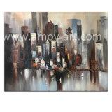 Pitture a olio impressionanti Handmade della tela di canapa di paesaggio urbano dallo studio