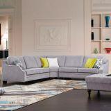 La combinación gris sofá de tela para el hogar muebles