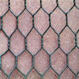 Da gaiola de superfície revestida do coelho do PVC engranzamento de fio sextavado