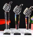 Пожалование трофея большой гравировки большого пальца руки кристаллический