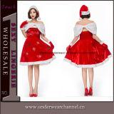 Costume adulte de robe de Noël Santa de bonbon délicieux sexy de 2018 (TLQZ051)