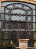 Главный из кованого железа новейшей конструкции двери дома используется передний железные двери