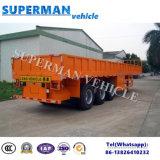 de 40FT de Tri-Essieu de cargaison en bloc de flanc de conteneur de camion remorque semi