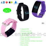 Personnaliser le bracelet portable de Band&Smart de forme physique de bracelet avec D21 imperméable à l'eau