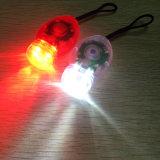 2 batteriebetriebenes mini rotes Weiß des LED-Mikrofahrrad-Licht-2 Cr2032 LED vorderes und rückseitiges Fahrrad-Licht-Set