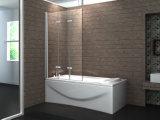 浴槽デザイン3パネルヒンジのシャワーのガラス浴室スクリーン