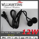 Bernsteinfarbiger LED-Hideaway Röhrenblitz beleuchtet 6LED X3w