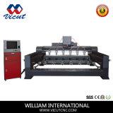 Op zwaar werk berekend Hout die Multi Hoofd Roterende CNC Scherpe Machine werken