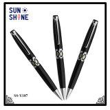 Stylo de luxe de haute qualité Cadeau souvenir fût métallique stylo Shell