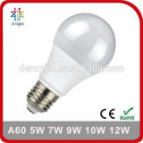 A60 세륨 RoHS를 가진 표준 E27 B22 플라스틱 알루미늄 SMD2835 Ra>80 PF>0.5 5W 7W 8W 9W 10W 12W LED 전구