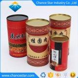 カスタム食糧のための錫のふたが付いているホイルによって並べられるペーパー管の缶