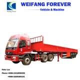 60ton parede lateral do veículo de transporte de carga a granel semi reboque
