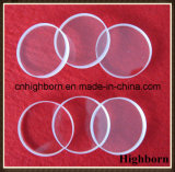 Placa de vidro circular desobstruída resistente à corrosão de quartzo do silicone