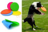 Venda por grosso de borracha de silicone Soft Ceia voando ambiental brinquedo cão de estimação do disco