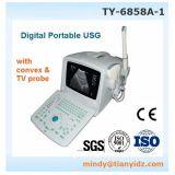 Scanner portatif d'ultrason de Wuhan Tianyi (TY-6858A-1) avec la sonde Transvaginal gynécologique obstétrique