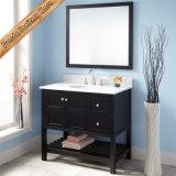 Singola vanità Finished nera della stanza da bagno del dispersore di disegno moderno