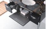 Prata preta no armário de banheiro espelhado moderno do aço inoxidável do assoalho (JN-88813)