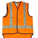 Colete de segurança laranja com fecho de correr com a EN471