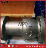 Personnaliser le clapet anti-retour d'écoulement axial d'acier inoxydable de longueur