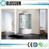 De vidro transparente de massagem vapor cabine de chuveiro chuveiro completo (SBV-9712A)
