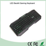 Versão em inglês a retroiluminação LED tricolor sensação Mecânica Teclados de jogos (KB-1801EL)