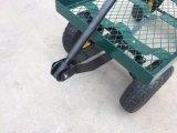 Vagão de aço da plataforma do engranzamento do jardim da plataforma