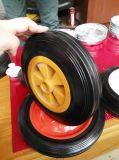 4 Polegada Flat-Free roda de borracha sólida para a máquina