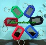 LED de energia solar mini porta-chaves lanterna