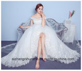 Strapless Xale Sexy Suite Beca Princess Lace vestido de casamento