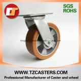 Schwenker-Fußrolle mit PU-Rad-Aluminiummitte 125*38