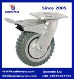 Schwenker-Spitzenplatten-Zink-fertiges Fußrollen-Reifen PU-Rad Hochleistungs