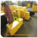 Hete Verkoop 500*500*50mm de Gele HDPE Stootkussens van de Kraanbalk Pads/HDPE van de Kraan Zuivere Materiële