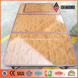 Matière composite en aluminium de sembler de granit et de bois de construction