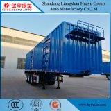 3 rectángulo del árbol 40FT/acoplado de Van Type Semi para el transporte de cargo a granel del uso de la logística
