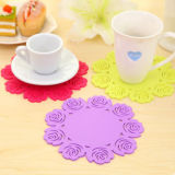 Garniture Shaped de couvre-tapis de caboteurs de silicones de fleur pour la cuvette de thé