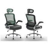 Schwarzes stapelbares Metallrahmen-Ineinander greifen-stützender Schwenker-Büro-Stuhl