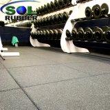 Sol de borracha para ginásio comercial do tapete de borracha de azulejos do piso de borracha
