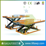 1000kg zur hydraulischen Rolle 2000kg Scissor Aufzug-Tisch mit Förderanlage
