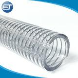 Tubo flessibile di rinforzo trasparente del tubo del filo di acciaio del PVC della radura del Anti-Prodotto chimico Anti-UV